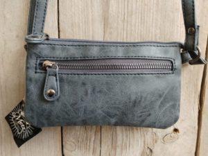 Leuk mini stap- en portemonnee tasje, blauw