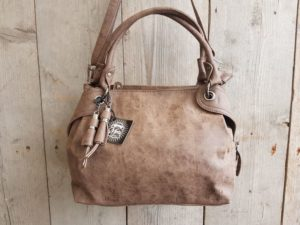Leuke hippe tas, shopper model, bruin