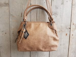 Leuke hippe tas, shopper model, cognac