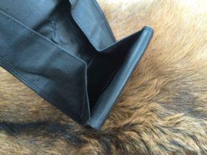 Zwarte lederen portemonnee, ouderwets model