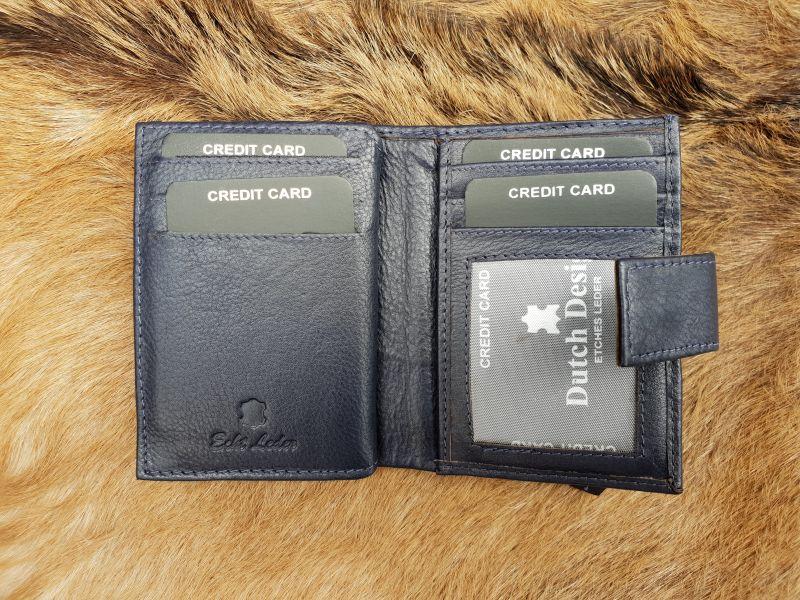 00b1cb460a1 Home / Heren / Heren portemonnees / Pasjes/ creditcard houder / Kleine  blauwe lederen portemonnee voor geld en pasjes
