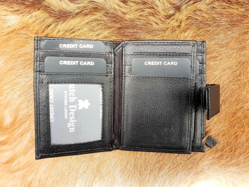 ce09d3899f3 Home / Heren / Heren portemonnees / Pasjes/ creditcard houder / Kleine  zwarte lederen portemonnee voor geld en pasjes