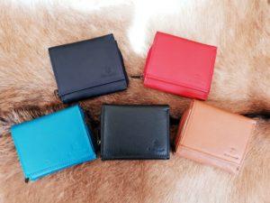Compacte portemonnee met rits, in diverse kleuren