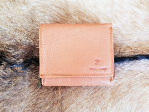 Compacte portemonnee met rits, camel