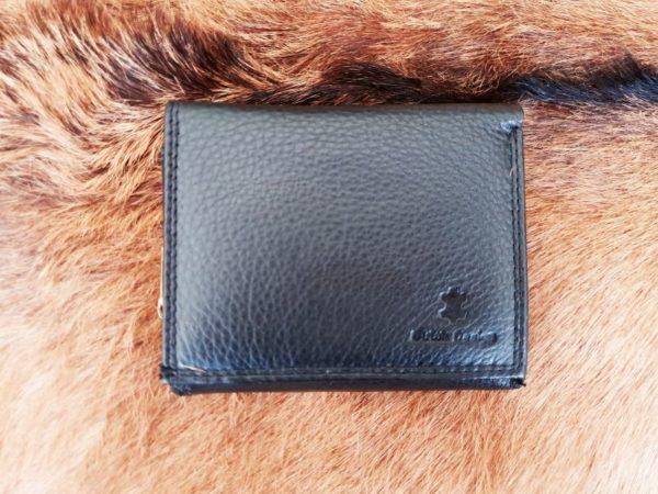 Compacte portemonnee met rits, zwart