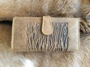 Luxe lederen portemonnee met ritsvak en veel ruimte, bruin