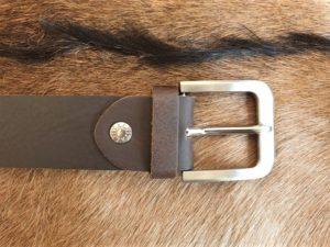 Bruine sterke en mooie kwaliteit lederen riem XL tot 160cm lang