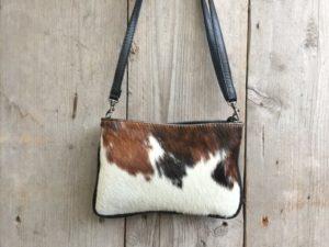 Koeien huid tasje (Koe2A) van echt leder in verschillende kleuren