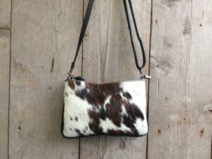 Koeien huid tasje (Koe2G) van echt leder in verschillende kleuren