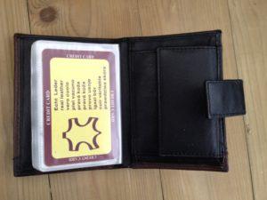 Lederen mapje voor ruim 30 creditcards combi portemonnee