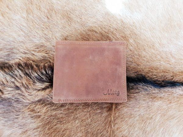 Platte lederen billfold portemonnee, hunter