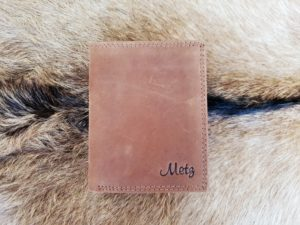 Billfold heren portemonnee hoog model, hunter leder