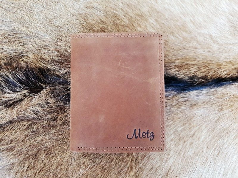 Billfold Heren Portemonnee.Billfold Heren Portemonnee Hoog Model Hunter Leder