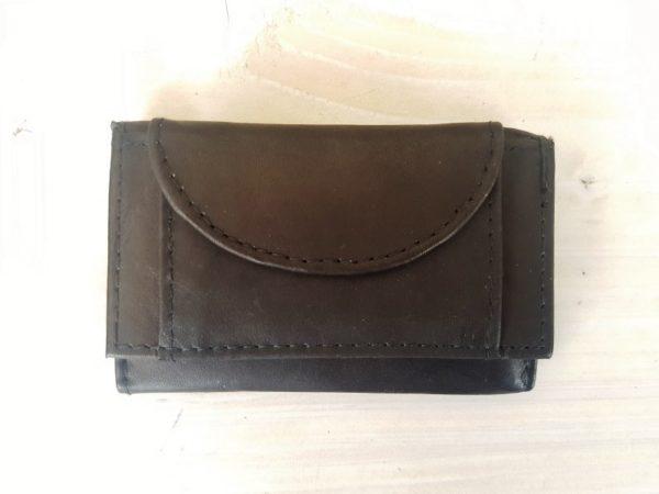 Praktische mini portemonnee van geheel leder