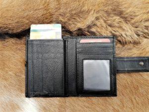 Geheel lederen card protector wallet