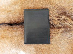Lederen mapje voor paspoort en belangrijke documenten, zwart