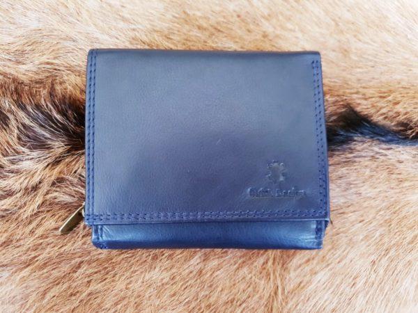 Compacte portemonnee met rits, blauw