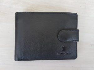 Lederen billfold portemonnee