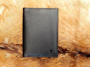 Lederen portefeuille voor alle documenten, zwart