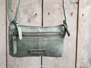 Leuk mini stap en portemonnee tasje, groen