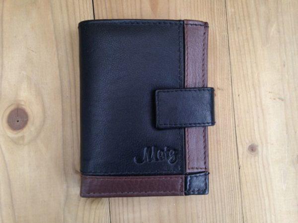 Lederen mapje voor ruim 30 creditcards, combi portemonnee