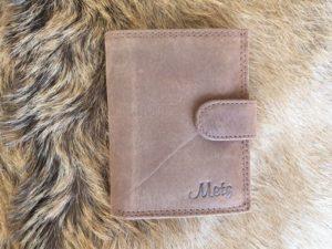 Lederen mapje voor ruim 30 creditcards, hunter bruin