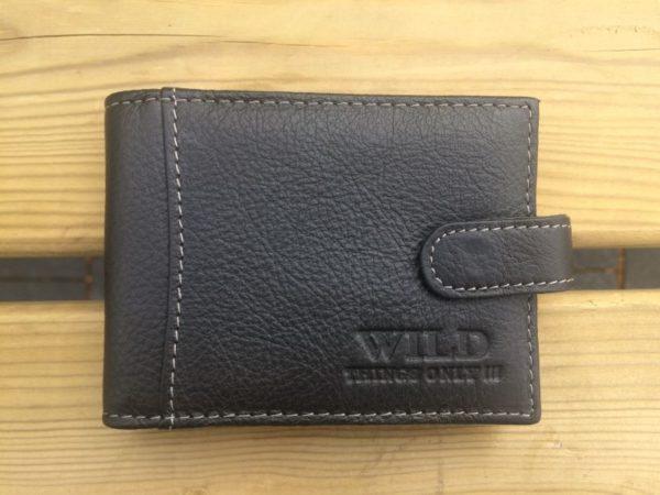 Lederen mapje voor ruim 30 creditcards, zwart breed