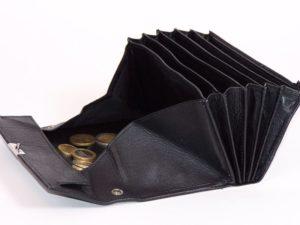 Zwarte lederen horeca portemonnee