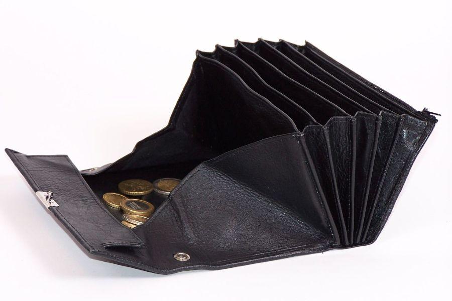 Horeca Portemonnee.Mooie Zwarte Lederen Horeca Portemonnee Met Groot Munt Vak