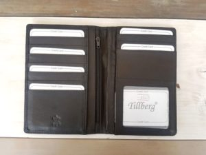 Lederen portefeuille voor autopapieren en creditcards