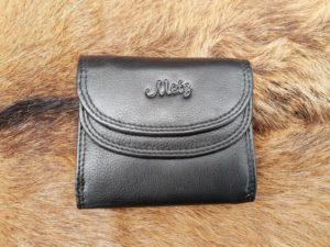 Mini portemonnee afgesloten met drukkers, zwart