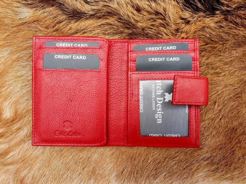 97c7139cb03 Home / Heren / Heren portemonnees / Pasjes/ creditcard houder / Kleine rode lederen  portemonnee voor geld en pasjes