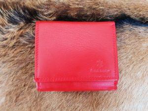 Compacte portemonnee met rits, rood