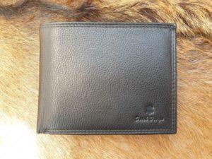 Lederen portemonnee met bak voor kleingeld