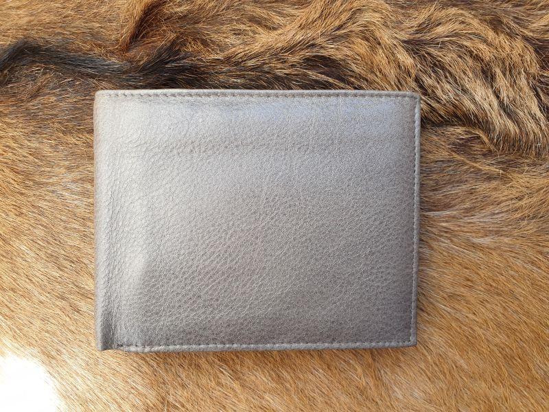 0d235cfa791 Bestseller ! compacte lederen billfold heren portemonnee, grijs