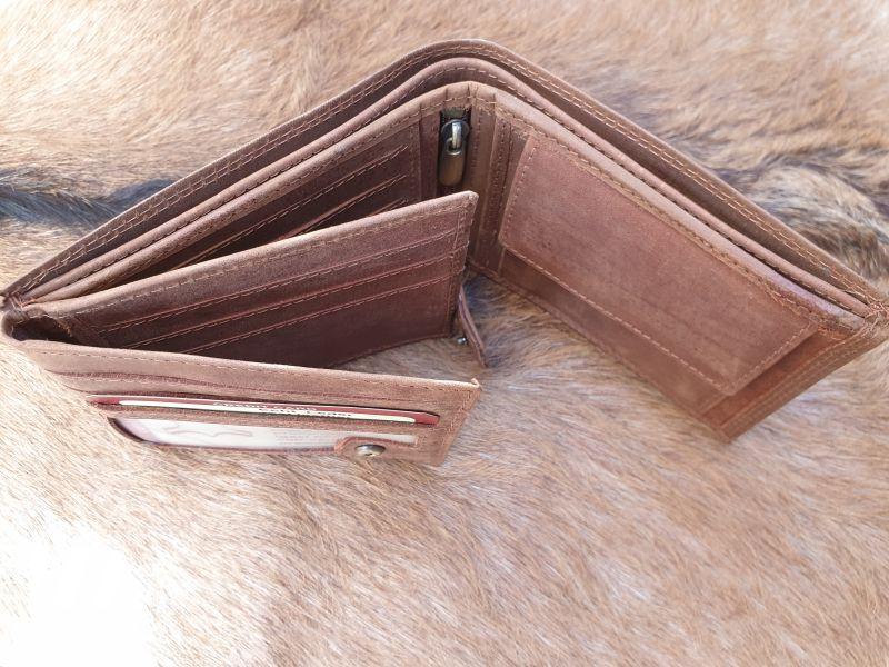 4e4e81e3f3e Home / Heren / Heren portemonnees / portemonnee Billfold / Bestseller !  Lederen billfold portemonnee, hunter bruin