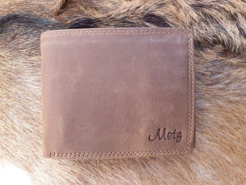 475d5d0667a Bestseller ! Lederen billfold portemonnee, hunter bruin