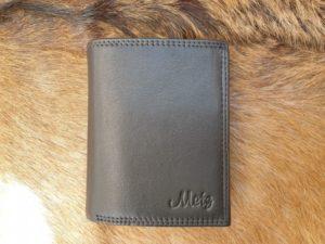 Platte heren portemonnee hoog model, zwart