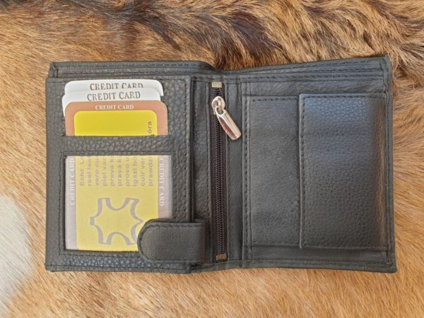 Billfold heren portemonnee hoog model, tussenmaat