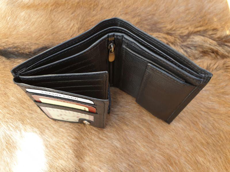 5172df947d9 Lederen heren portemonnee hoog model, zwart. BESTE KWALITEIT !
