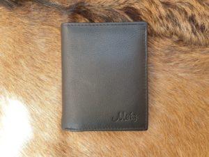 Billfold heren portemonnee hoog model, zwart