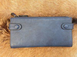 Ruime rits portemonnee, kleur blauw