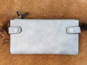 Ruime rits portemonnee, licht blauw