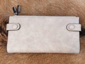 Ruime rits portemonnee, licht grijs