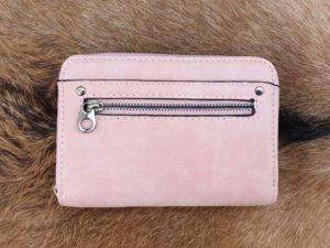 Super leuke compacte portemonnee met rits, roze
