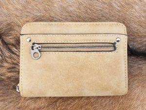 Super leuke compacte portemonnee met rits, taupe