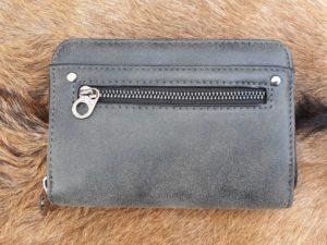 Super leuke compacte portemonnee met rits, zwart