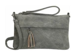 Mooie clutch / schoudertas van Beagles, donker grijs