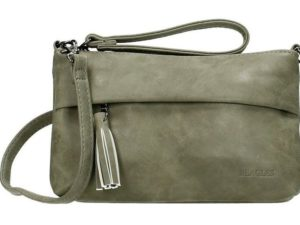 Mooie clutch / schoudertas van Beagles, licht grijs