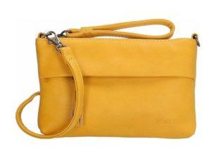 Mooie clutch / schoudertas van Beagles, oker geel